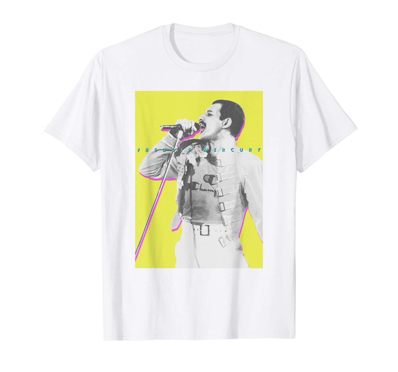 Freddie Mercury Official Neon Glow Champion T-Shirt
